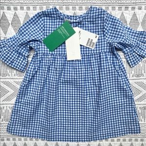 H&M Baby Girl Gingham Cotton Dress and Scarf